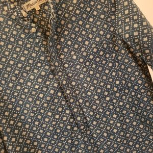 Madewell Tops - Madewell denim and white pop over  top sz S